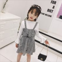 suit Other / other As shown in the picture 7 9 11 13 15 female spring and autumn Korean version Long sleeve + skirt 2 pieces Thin money No model Socket nothing other cotton children Expression of love CTZ515