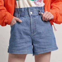 Jeans Summer 2021 blue 1 / XS, 2 / s, 3 / m, 4 / L, 5 / XL shorts Natural waist Straight pants routine 25-29 years old other Pinge Dixin 51% (inclusive) - 70% (inclusive)