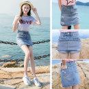 skirt Summer of 2019 S M L XL 2XL 3XL Light blue medium blue Short skirt commute High waist Denim skirt Type A 18-24 years old YSSH0906-22 Denim No. thirteen hole Korean version Pure e-commerce (online only)