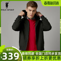 Jacket Polo Sport Fashion City black S,M,L,XL,2XL routine Self cultivation Other leisure autumn H10913948 Polyester 100% Long sleeves Wear out Hood Business Casual middle age routine Zipper placket 2019 Rubber band hem No iron treatment Loose cuff Solid color Zipper decoration Zipper bag