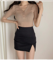 skirt Summer of 2019 XXS XS S M L XL Black and white Short skirt commute High waist skirt Solid color Type H 18-24 years old MRLN12587943 More than 95% brocade Mirrona other zipper Korean version Other 100% Pure e-commerce (online only) 201g / m ^ 2 (including) - 250G / m ^ 2 (including)