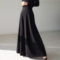 Casual pants Brown Black S M L XL Spring 2011 Ninth pants Wide leg pants Natural waist commute routine 25-29 years old U20 Enchantment of imperial concubines polyester fiber Korean version pocket polyester fiber Polyester 100% Pure e-commerce (online only) Asymmetry
