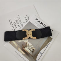 Belt / belt / chain Pu (artificial leather) black female belt Simplicity Single loop Youth Bamiwei Spring 2020 yes