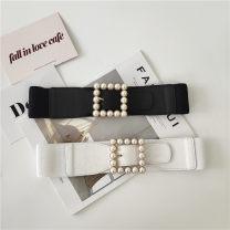 Belt / belt / chain Pu (artificial leather) White black female Versatile Youth alone Bamiwei 2254666 dfyskdhfsdf Summer 2020 yes