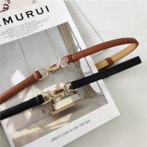 Belt / belt / chain Pu (artificial leather) Brown red white Khaki black female belt Versatile Single loop Youth alone Bamiwei 35-5fuamosxlkjfsdge Spring 2020 yes