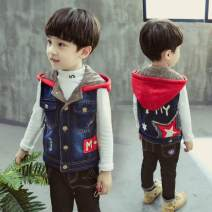 Vest male Other / other winter Plush There are models in the real shooting Single breasted cotton Cartoon animation other Intradermal bile duct Chinese Mainland