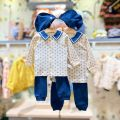 Underwear set (cardigan) 70 for 55cm, (cardigan) 80 for 65cm, (Pullover) 90 for 75cm, (Pullover) 100 for 85CM Na dark blue purchasing, Na dark blue (48 hours delivery) Cotton 100% cotton moimoln spring and autumn neutral Class A M211NNN35P 12 months, under 1 year old, 18 months, 2 years, 3 years old