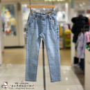 trousers curlysue neutral 110cm,120cm,130cm,140cm,150cm De blue spring and autumn trousers Korean version No model Casual pants Leather belt middle-waisted other Don't open the crotch Other 100% CPS1GADN01 Class B 2 years old, 3 years old, 4 years old, 5 years old, 6 years old, 7 years old