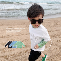 T-shirt Black, green, blue, black, green, blue LINLINMA 80cm, 100cm, 110cm, 120cm, 130cm, 140cm, 90cm (ugly size) male summer Long sleeves Crew neck Korean version There are models in the real shooting nothing cotton printing Polyester 100% H21X029 Class A other Chinese Mainland