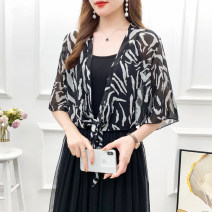 Scarf / silk scarf / Shawl Chiffon Spring and summer female Shawl multi-function Korean version Students and children: parents and children aged 7-14, young, middle-aged and old Zebra pattern printing Shanshidu SSD2021050020 Summer 2021 no
