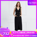 Dress Spring of 2019 XS S M L XL XXL Mid length dress singleton  Sleeveless commute V-neck High waist Solid color double-breasted other other Others 25-29 years old Type X Coven Garden Simplicity Button 91% (inclusive) - 95% (inclusive) polyester fiber