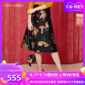 skirt Autumn of 2019 XS S M L XL XXL Black 090 Mid length dress commute High waist Umbrella skirt Animal design Type A 25-29 years old CZA3078400 More than 95% Coven Garden polyester fiber printing Simplicity Polyester 100% Same model in shopping mall (sold online and offline)