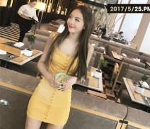 Dress Summer 2017 Yellow, black S,M,L