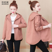 short coat Spring 2021 M L XL 2XL 3XL Long sleeves routine singleton  easy commute routine Hood zipper Solid color 30-34 years old Dee Adele 96% and above pocket other Other 100.00% Pure e-commerce (online only)