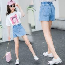 trousers Other / other female 110 is suitable for 20-30 Jin, 120 is suitable for 30-40 Jin, 130 is suitable for 40-50 Jin, 140 is suitable for 50-60 Jin, 150 is suitable for 60-70 Jin, 160 is suitable for 70-85 Jin wathet summer shorts princess There are models in the real shooting Jeans Leather belt