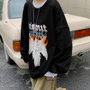 Sweater / sweater Spring 2021 Black grey M L XL 2XL 3XL 4XL 5XL Long sleeves routine Socket singleton  routine Crew neck easy commute raglan sleeve letter 18-24 years old 91% (inclusive) - 95% (inclusive) Teng Yiman Korean version cotton TXW463 printing Cotton 95% polyester 5%