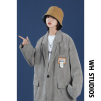 suit Spring 2021 Grey black M L XL 2XL 3XL 4XL 5XL Long sleeves routine easy tailored collar A button Versatile raglan sleeve Solid color TXXZ63 18-24 years old 31% (inclusive) - 50% (inclusive) cotton Teng Yiman pocket Cotton 50% polyester 50% Pure e-commerce (online only)
