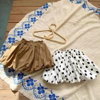 skirt 80cm,90cm,100cm,110cm,120cm,130cm Sauter bear female Cotton 95% polyurethane elastic fiber (spandex) 5% summer skirt Korean version Dot Fluffy skirt cotton Class B