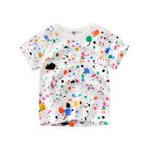 T-shirt 140cm,130cm,120cm,110cm,100cm,90cm female summer Short sleeve Crew neck Korean version No model cotton other Class A 3 months Chinese Mainland