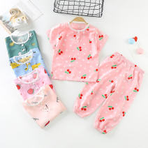 Underwear set 50 / 73cm, 55 / 80cm, 60 / 90cm, 65 / 100cm, 70 / 110cm, 75 / 120cm, 80 / 130cm Cotton 100% other Belle is so bright female Class B A-1 12 months Expel dampness and absorb sweat