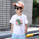 T-shirt Dx03 white, Dx03 pink, Dx03 green, Dx03 red, Dx03 yellow, dx41 white, dx41 pink, dx41 green, dx41 red, dx41 yellow, dx41 gray, dx57 white, dx57 pink, dx57 green, dx57 black, dx57 red, dx57 yellow, dx57 gray MUO 160cm,150cm,140cm,130cm,120cm,110cm male summer Short sleeve Crew neck cotton