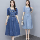 Dress Summer 2021 Dark blue light blue S M L XL Miniskirt Two piece set 18-24 years old Labran ldng87517 More than 95% other Other 100%