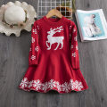 Dress Red, blue female Aini babe 100cm,110cm,120cm,130cm,140cm Cotton 80% other 20% winter princess Long sleeves Cartoon animation cotton A-line skirt A00442 Class A 12 months, 18 months, 2 years old, 3 years old, 4 years old, 5 years old, 6 years old Chinese Mainland