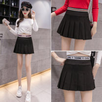 skirt Autumn of 2019 S M L XL 913-1 913-2 913-3 Short skirt Versatile High waist Pleated skirt Solid color Type A 25-29 years old ZX081505A More than 95% Show other fold Other 100%