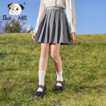 skirt 110cm 120cm 130cm 140cm 150cm 160cm Magic grey (in stock) Greedy dog female Polyester fiber 74.4% viscose fiber (viscose fiber) 19.1% polyurethane elastic fiber (spandex) 6.5% spring and autumn skirt college Solid color Pleats A9911613 Class B Spring 2021