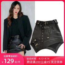skirt Spring 2020 XS,S,M,L,XL Short skirt Rock and roll High waist Irregular Type A 18-24 years old ZZLASS PU