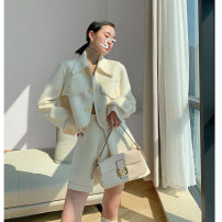 Fashion suit Winter 2020 S M L XL White coat + skirt 18-25 years old Dinohin DNX6677 Polyester 70% other 30% Pure e-commerce (online only)