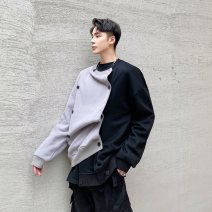 Sweater Youth fashion Others black M,L,XL other Cardigan routine Crew neck spring easy leisure time youth tide routine Cotton 70% new polyester 30% double-breasted
