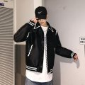 Jacket Other / other Youth fashion black M,L,XL routine easy Other leisure spring Long sleeves Wear out Lapel tide youth short Single breasted 2019 Rib hem Closing sleeve Bag digging with open cut thread