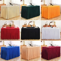 tablecloth Red, Burgundy, sapphire, sky blue, white, off white, champagne, dark green, light green, purple, light purple, black, green, Navy, orange, pink, gray, golden, off white, dark brown, light brown chemical fiber Simple and modern Solid color Dongwei textile