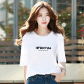 T-shirt White Black Royal Blue S M L XL 2XL Spring 2021 three quarter sleeve Crew neck easy Regular routine commute cotton 86% (inclusive) -95% (inclusive) 18-24 years old Korean version youth letter Fajijin KZ148005 printing Cotton 95% polyurethane elastic fiber (spandex) 5%