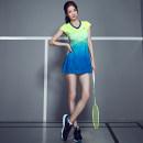 Badminton wear Blue and red dress suit m, XL, 2XL, green and blue dress suit, rattan dress, turquoise dress female S,M,L,XL,XXL,XXXL Lead the way Football suit S6040