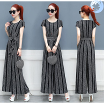 Casual pants Ld1870 gray , Ld1870 Brown , Ld1870 black XL,L,S,M,2XL trousers Jumpsuit High waist Other / other printing and dyeing
