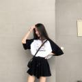 Casual suit Summer of 2019 [B207 cat ears] black [B208 little dinosaur] black [B410 headdress] black solid color no pattern black suit S [skirt + top] m [skirt + top] l [skirt + top] XL [skirt + top] XXL [skirt + top] 18-25 years old 69 sets Love song Pure e-commerce (online only)