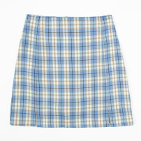 skirt Summer 2020 XS S M L XL Pink blue yellow green black Short skirt commute High waist A-line skirt lattice Type A 18-24 years old More than 95% other Maoman other zipper Korean version Other 100% Pure e-commerce (online only)