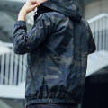 Jacket UNS Youth fashion M L XL 2XL 3XL 4XL thin easy Other leisure summer Polyester 100% Long sleeves Wear out Hood tide youth routine Zipper placket Rib hem No iron treatment Closing sleeve camouflage polyester fiber Summer 2021 Rib bottom pendulum Side seam pocket Pure e-commerce (online only)