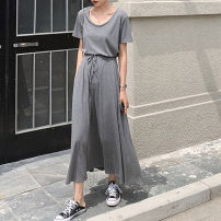 Casual suit Summer 2020 18-25 years old MMLXYS-442 Mumili 96% and above polyester fiber Polyester 95% polyurethane elastic fiber (spandex) 5% Pure e-commerce (online sales only) M L XL XXL Grey black