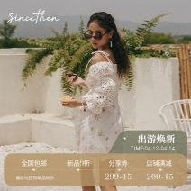 Dress Summer 2020 Picture color (in stock) for delivery within 7 days S M L Short skirt singleton  commute High waist Broken flowers A-line skirt camisole 18-24 years old since then Retro 30% and below Chiffon nylon Polyamide fiber (nylon) 15% others 85% Pure e-commerce (online only)