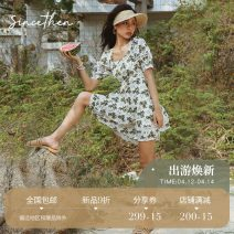 Dress Spring 2020 Picture color (in stock) for delivery within 7 days S M L Short skirt commute 18-24 years old since then Retro 30% and below hemp Flax 30% other 70% Pure e-commerce (online only)