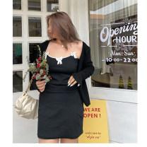 Dress Spring 2021 [spot] black, [pre-sale 7-15 days] black L,XL,2XL,3XL,4XL Mid length dress singleton  Sleeveless street camisole 18-24 years old More than 95% cotton