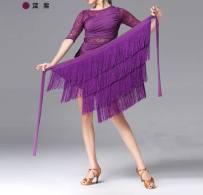 Latin bottom Average size female Light green black purple rose Royal Blue Red Irregular skirt Other / other spandex