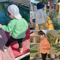 shirt White, orange, green Other / other neutral 80cm,90cm,100cm,110cm,120cm,130cm Long sleeves Cartoon animation cotton