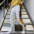 Casual pants Others Youth fashion Black, white S,M,L,XL,2XL,3XL thin Ninth pants Other leisure easy summer teenagers tide 2019 middle-waisted Little feet Sports pants printing No iron treatment Non brand