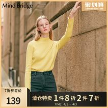 Wool knitwear Winter of 2019 155/XS 160/S 165/M Yellow violet green Long sleeves singleton  Socket other More than 95% Regular commute Self cultivation High collar routine Solid color Socket Korean version MTKT720C Mind Bridge Polyester 100% Same model in shopping mall (sold online and offline)