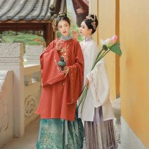 Hanfu 96% and above Autumn 2020 One purple horse face skirt with wide knee - one purple horse face skirt with wide bottom in stock - one lotus Cape in stock (light blue) - one lotus Cape in stock (pink) - in stock XS S M L polyester fiber
