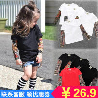 T-shirt Other / other 80cm, 90cm, 100cm, 110cm, 120cm, 130cm, climbing suit 70, climbing suit 80, climbing suit 90, climbing suit 100, adult m, adult L, Adult XL neutral Long sleeves Crew neck Europe and America There are models in the real shooting cotton